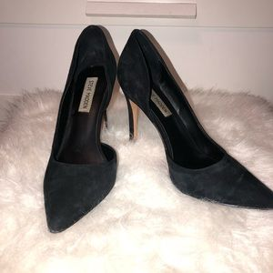Black Stiletto heels pointed toe